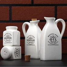 Zakka Küche Zubehör Wohnkultur Keramik Kochen Werkzeuge Weiß Keramik Gewürzglas Flasche Küche Werkzeuge 1 satz