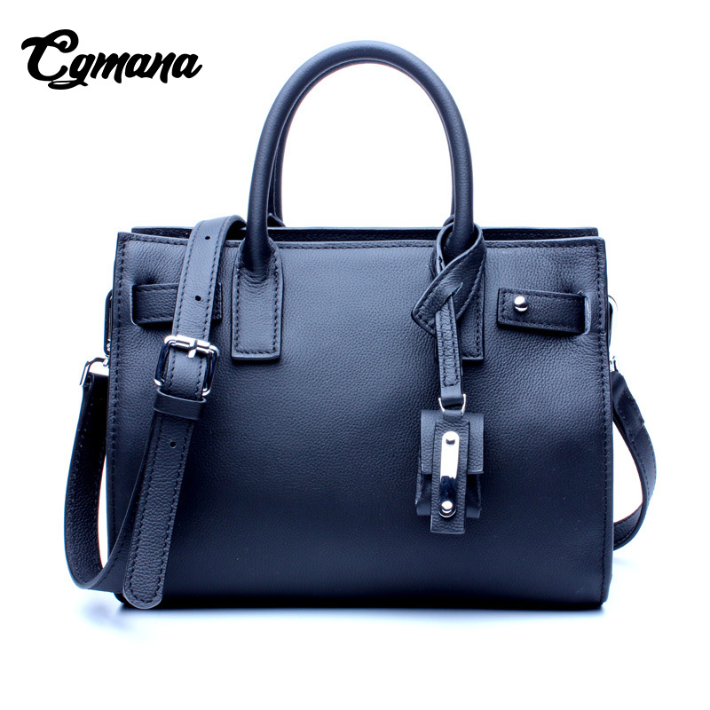 Women Genuine Leather Handbag 2018 Luxury Handbags Women Bags Designer New Ladies First Layer of Leather Shoulder Bag Handbag fctossr 2018 new retro genuine leather women handbag first layer of leather shoulder bag handmade leather diagonal female bags