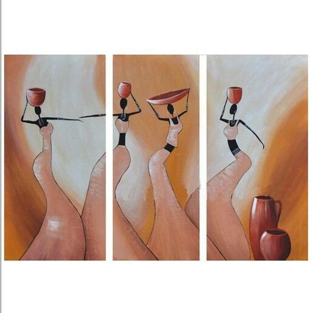 Fabulous 100% Handgeschilderde Canvas Schilderijen Abstract Afrikaanse &PJ64