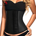 Sexy waist cincher waist trainer corset Slimming Shapewear women Rubber Latex Corset  steel boned black corsets and bustier