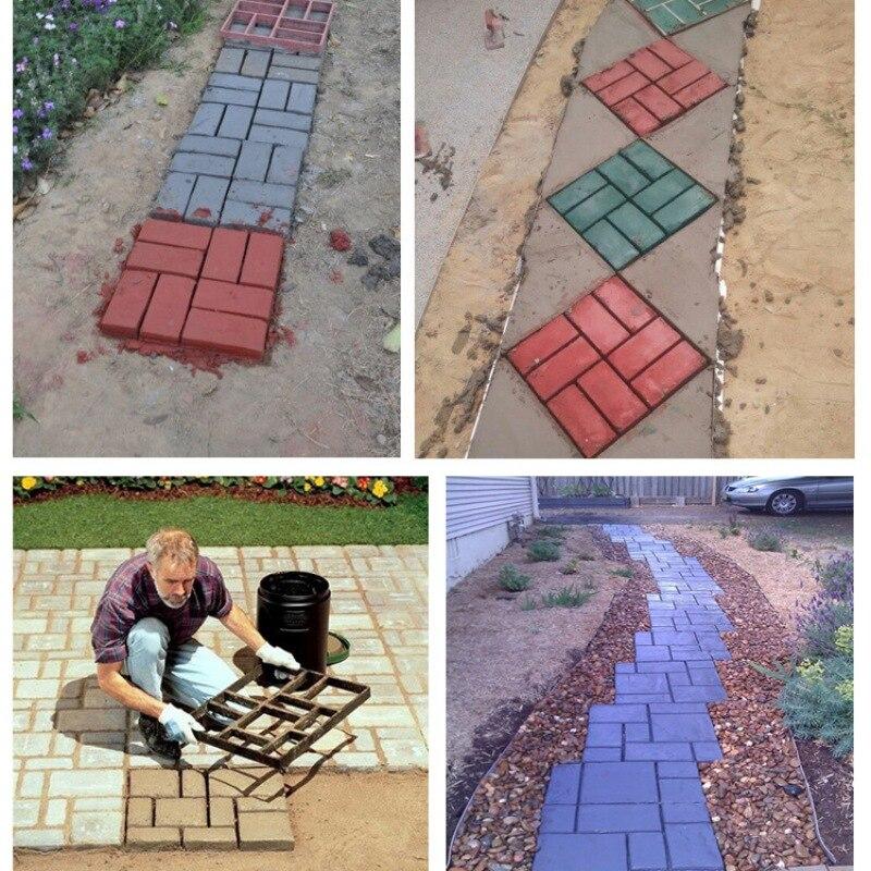 DIY дорожка производитель плесень вручную тротуарная цемент кирпичные формы сад камень дорога бетонные формы тротуар для сада дома