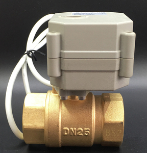 Image 2 - In ottone/Acciaio Inox 1 Valvola Proporzionale 0 10V 4 20mA 0 5V 2 Way DN25 tensione DC12V DC24V Per Acqua Controllo Modulante