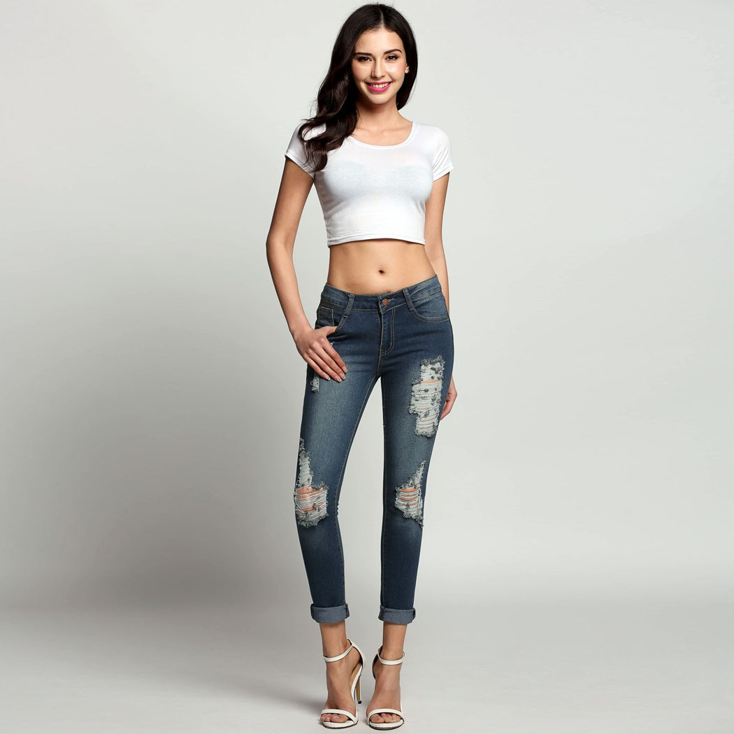 low waist sexy ripped jeans for women 3 colors boyfriend jeans for women casual denim pants plus. Black Bedroom Furniture Sets. Home Design Ideas