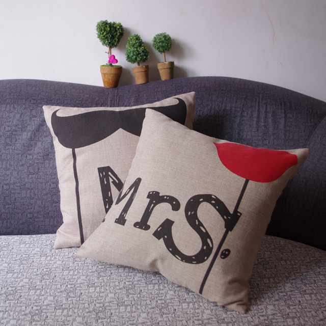 WANDS Seat Cushion Without Core Decorative Home Decor Mr.mrs Sofa Chair  Throw