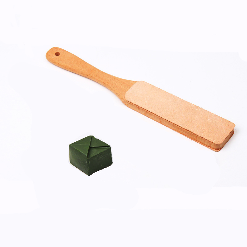 2 шт., кожаный бритвенный станок с деревянной ручкой