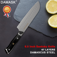 Damask Damascus Kitchen Knife Handmade 8 inch Chef Knife VG10 Japanese Damascus Steel 5 6.5 7 Santoku Kitchen Meat Cleaver