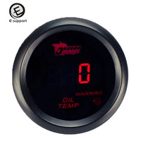 EE Support Auto Accessories 52mm LED Display Digital Oil Temperature Gauge Car Styling Instrument Motorcycle Universal