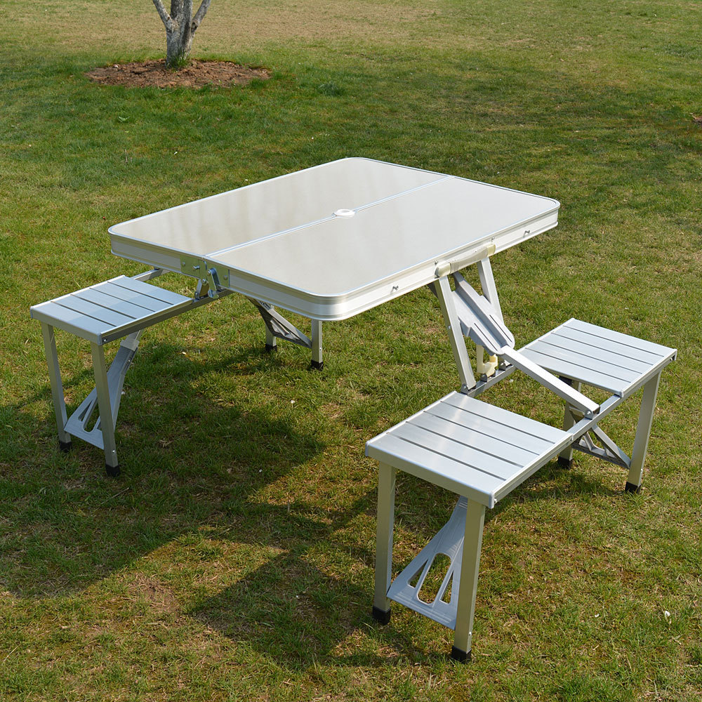 Aluminium Alloy Multipurpose Table Folding Chair Propaganda Household Leisure Portable Table Outdoors Fold Tables And Chairs RU european leisure tables and chairs fashion leisure sofa chair small coffee table beauty salon to discuss the single chair 3pcs