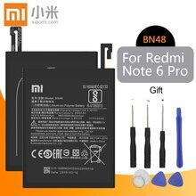 โทรศัพท์ Xiaomi แบตเตอรี่ BN48 4000 mAh แบตเตอรี่ทดแทนคุณภาพสูงสำหรับ Xiaomi Redmi หมายเหตุ 6 Pro ค้าปลีกแพคเกจ