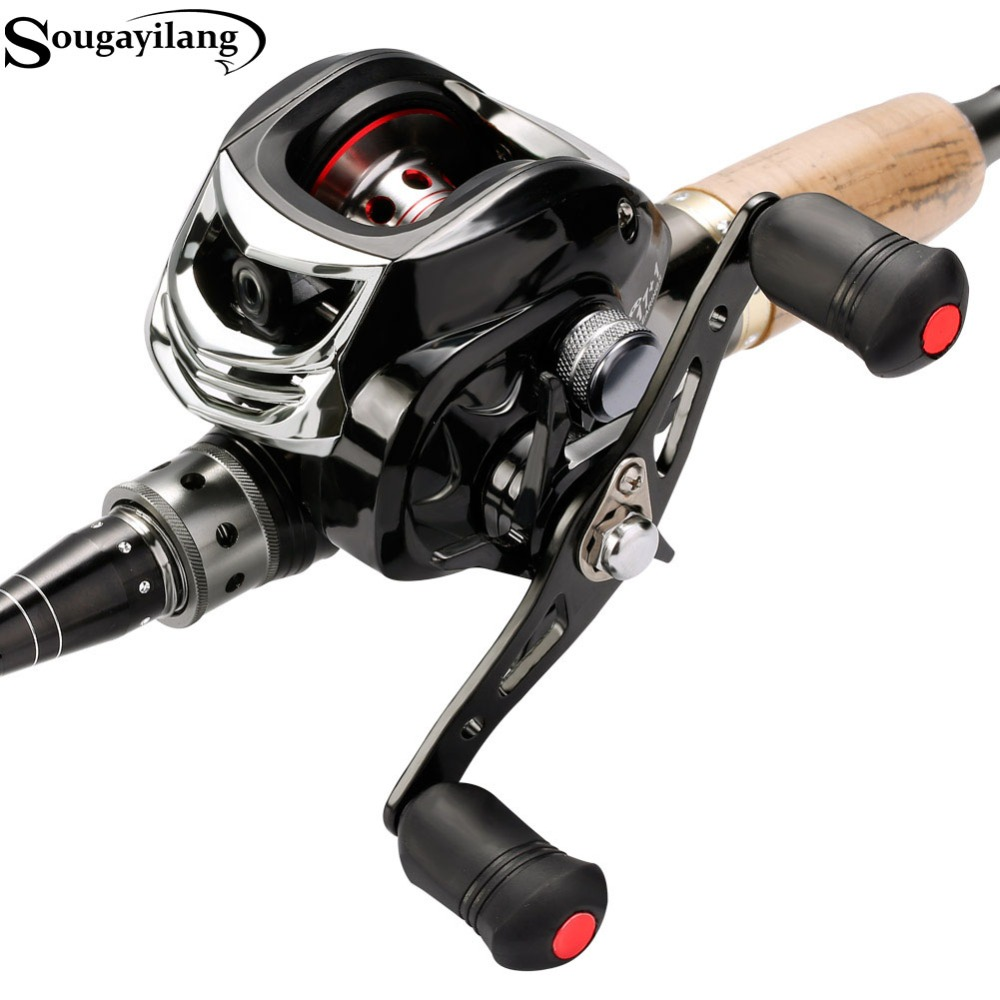 Sougayilang 18BB Baitcasting Fishing Reel Left/Right Hand Casting Fishing Reel Saltwater Bass Baitcast Reels 19LB Super Drag trolling reel 9 1bb drum wheel carp baitcasting reels centrifugal brake casting saltwater fishing reel super power drag 30kg