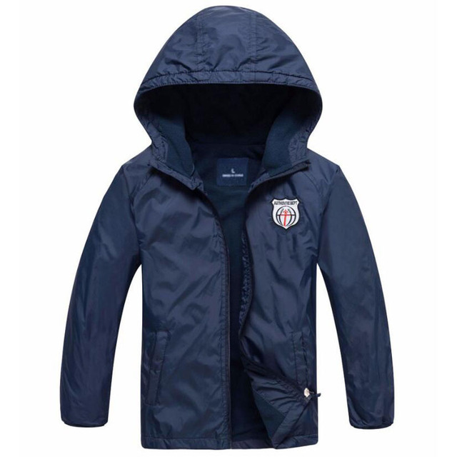 Solid Color Hooded Jackets for Boys