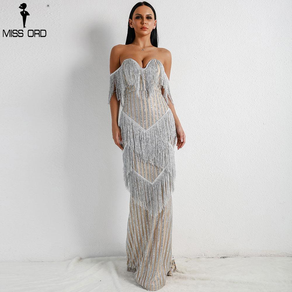 2019 Paillettes Femme Soutien Élégant Ft8303 Robes Sexy 1 Vestdios Argent Encolure Parti Robe gorge Nu Missord Gland Dos Maxi d4vAxd
