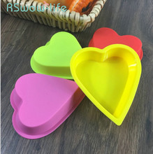 6Pcs Baking Tools Jelly Pudding Chocolate Mold Silicone Heart Shaped Cake DIY For Supplies