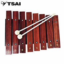 Sports Entertainment - Musical Instruments - TSAI 1pcs Xylophone Natural Wooden 8 Wide Note Tone Xylophone Percussion Musical Instrument For Children Early Learning Popular