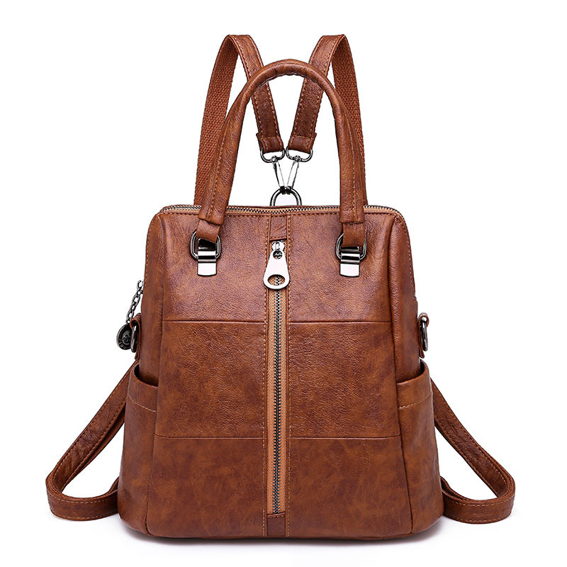 Women Three Use Backpacks Vintage Female Shoulder Bags Soft Leather School Backpack Ladies Casual Travel Bags For Girls Mochilas