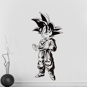 Image 1 - Dragon Ball japanese anime Goku Wall Decal Home Bedroom Youth Room Anime fans Decorative Vinyl Wall Sticker LZ05