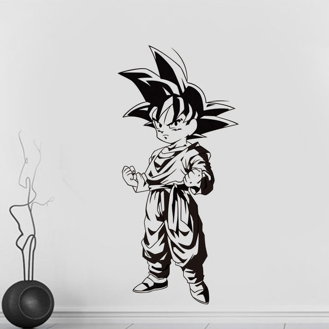 Dragon Ball japanese anime Goku Wall Decal Home Bedroom Youth Room Anime fans Decorative Vinyl Wall Sticker LZ05