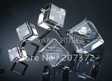 Free+shipping!! 50*50mm crysal paperweight  K9 crystal , 3d laser or 2d laser Crystal cube,Customize, Best selling