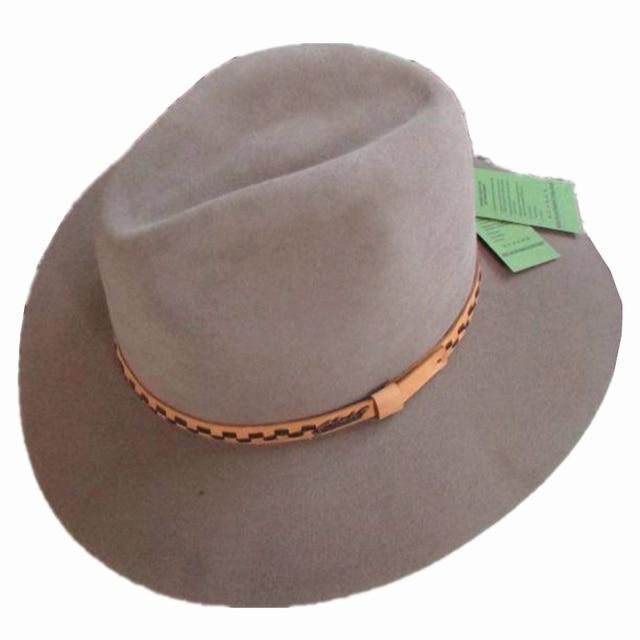 5c2462b5da4a5 Luxury Wide Brim Angora Wool Fedora Hat Cowboy Western Hat Fedoras  Adventurer Outback Safari Hat