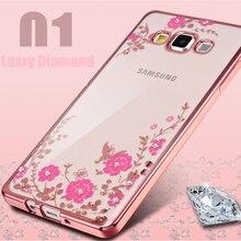 For Samsung Galaxy A3 A3000 2015 font b Phone b font Case Secret Flower Diamond Plating