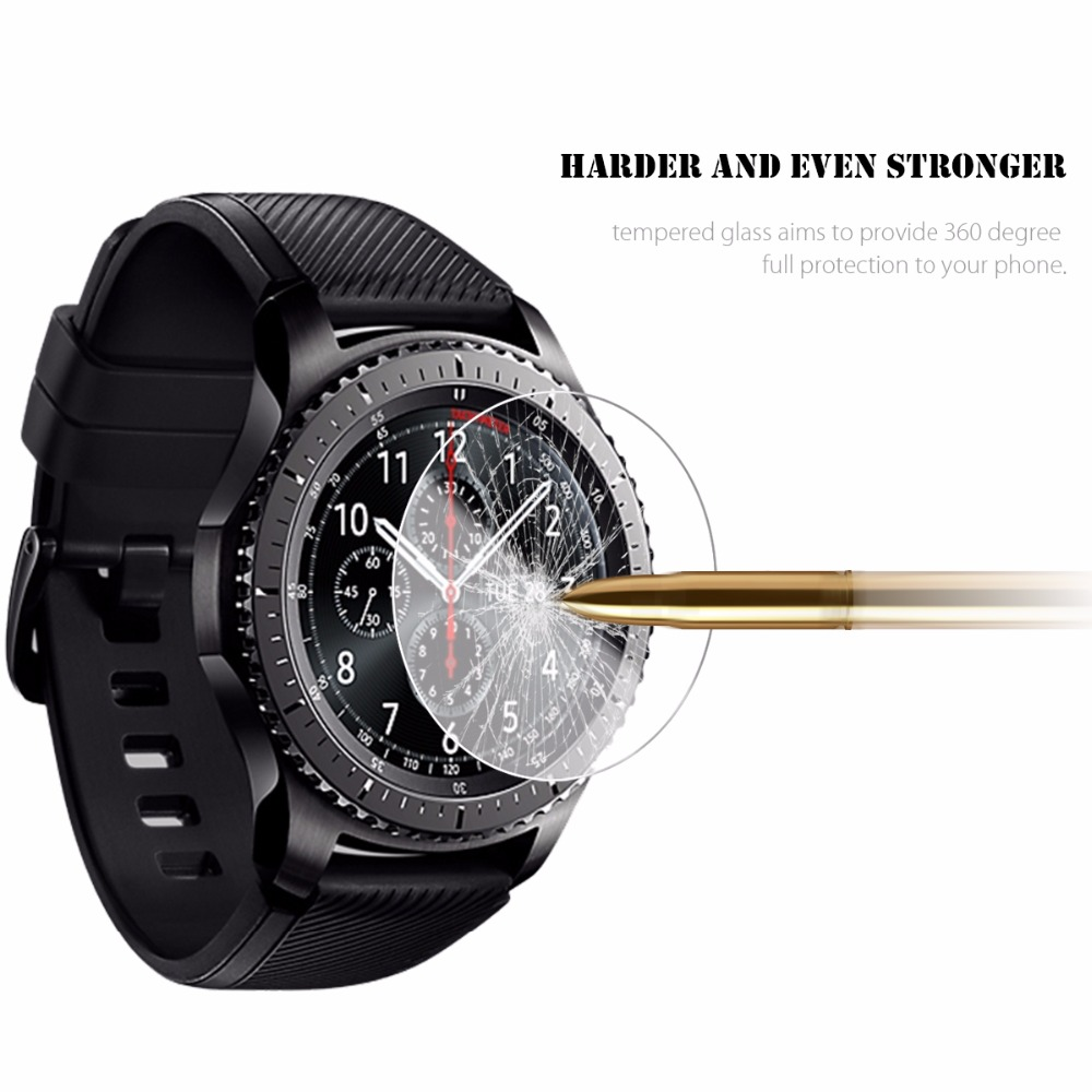 Gear S3 watch Glass screen protection For Samsung Classic / frontier Glass screen protection LTE 2.5D Round Edge Anti scratch|Watchbands| |  - title=