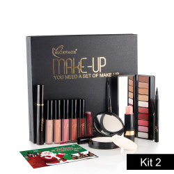 NICEFACE (Best Gift) Makup Tool Kit 13Pcs Make up Cosmetics Including Eyeliner Matte Lipstick Eyebrow Pencil Pressed Powder