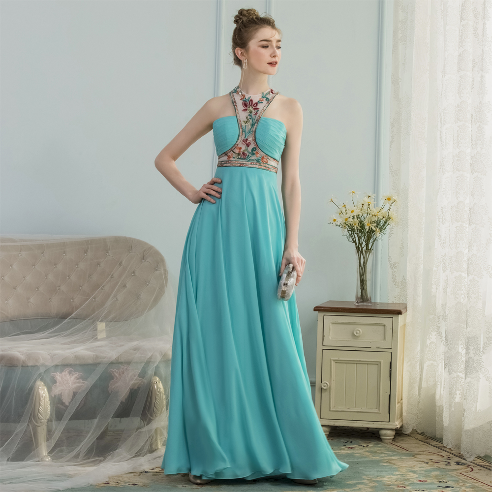 BeryLove Unique Embroidery Blue Formal Evening Dresses 2018 Chiffon Evening  Gowns Women Long Prom Dresses China Robe De Soire-in Evening Dresses from  ... a222871515c6