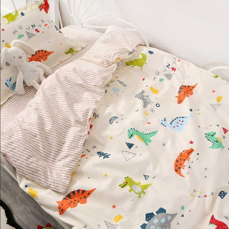 (2pcs A Set) 120x150cm Quilt Cover +pillowcase Baby Bedding Set Single Bed Duvet Cover For Kids Children Bed