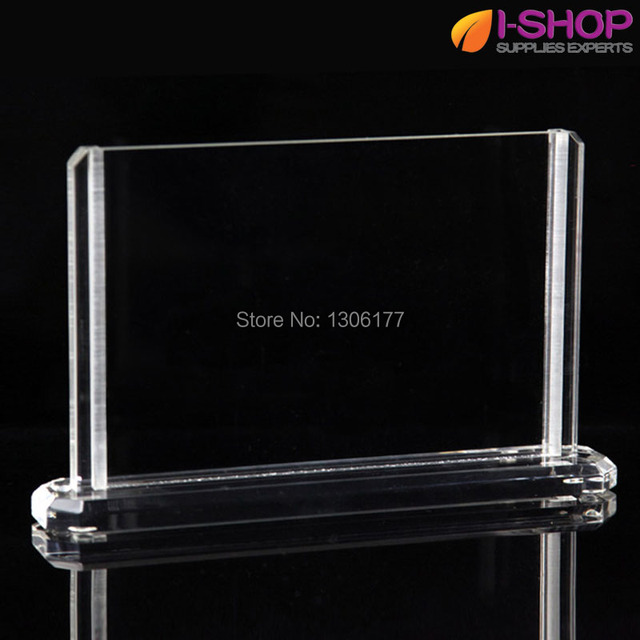 Double Sided Acrylic Photo Frame With Base Clear Picture Frame 6x4