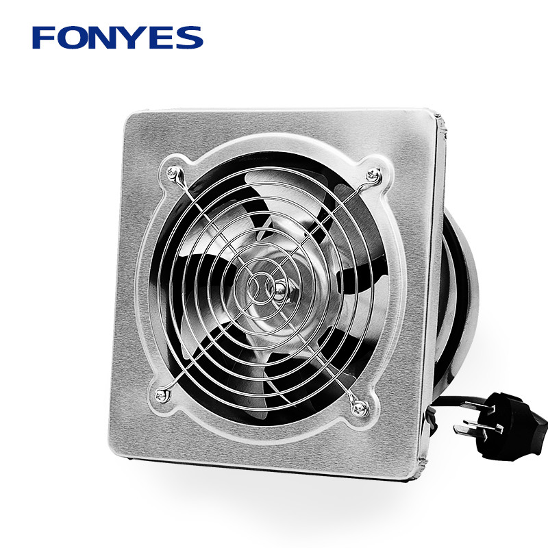 Stainless steel panel exhaust fan industry Exhaust fan high speed kitchen Smoke wall Ventilation fan 6 inch
