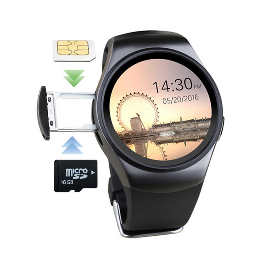 Kaimorui KW18 reloj inteligente hombres ritmo cardíaco TF reloj con tarjeta SIM teléfono mujer smartwatch deportivo conectar para Xiaomi Huawei IOS