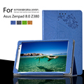 Для ASUS Zenpad 8.0 Z380KL Z380C Печати Pattern Стенд Крышка Защитная Печать Цветок Кожаный Чехол