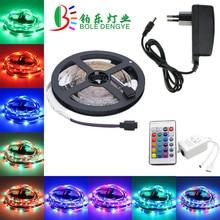 5 м 10 м Светодиодная лента 12 в 60 светодиодный s/m Светодиодный светильник SMD 2835 гибкий светодиодный светильник s многоцветный светодиодный светильник+ светодиодный контроллер+ адаптер ЕС