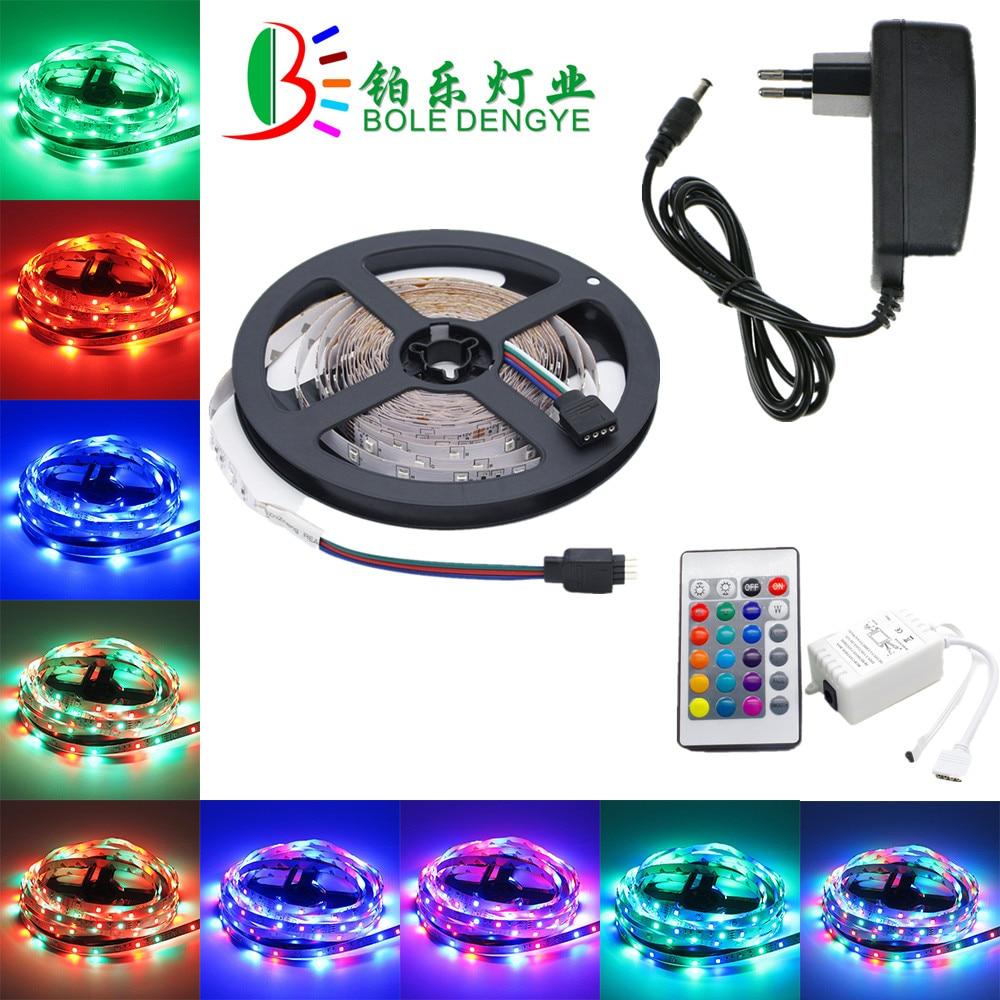 5m 10m LED Strip 12V 60 Leds/m LED Rope Light SMD 2835 Flexible LED Lamp Lights Multicolor LED String+LED Controller+EU Adapter