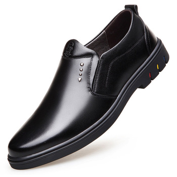 Luxury breathable wear-resistant brand-name men's shoes leather England negative business casual soft bottom soft shoes men