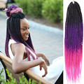 20inch Senegalese Twist Christmas 3 Color Ton Ombre Purple Pink Crochet Synthetic Twist Hair Braids Extensions for black women