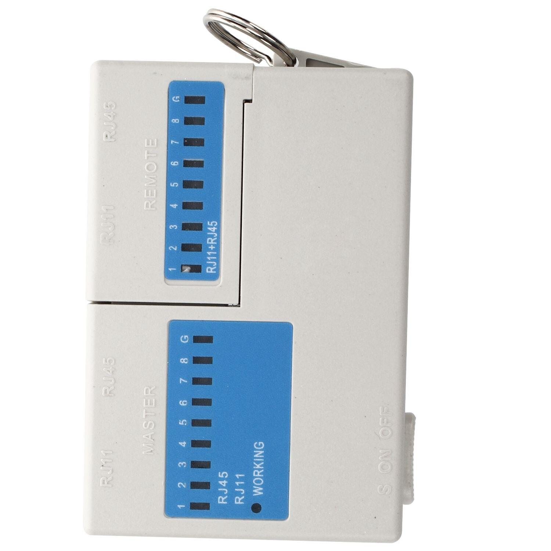 Хит продаж Новый карманный светодиодный Ethernet 4 Порты и разъёмы RJ45 RJ11 Cat5 сеть LAN кабель тестер с брелок