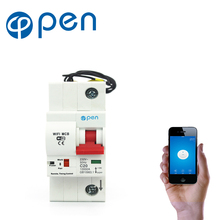 OPEN 1P 32A-125A Remote Control Timing Switch Delay Set Function Automatic Lock Intelligent Recloser Wifi Circuit Breaker