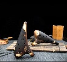 12 Holes AC Ocarina Retro Burn Flute Classical Musical Instruments For Beginner