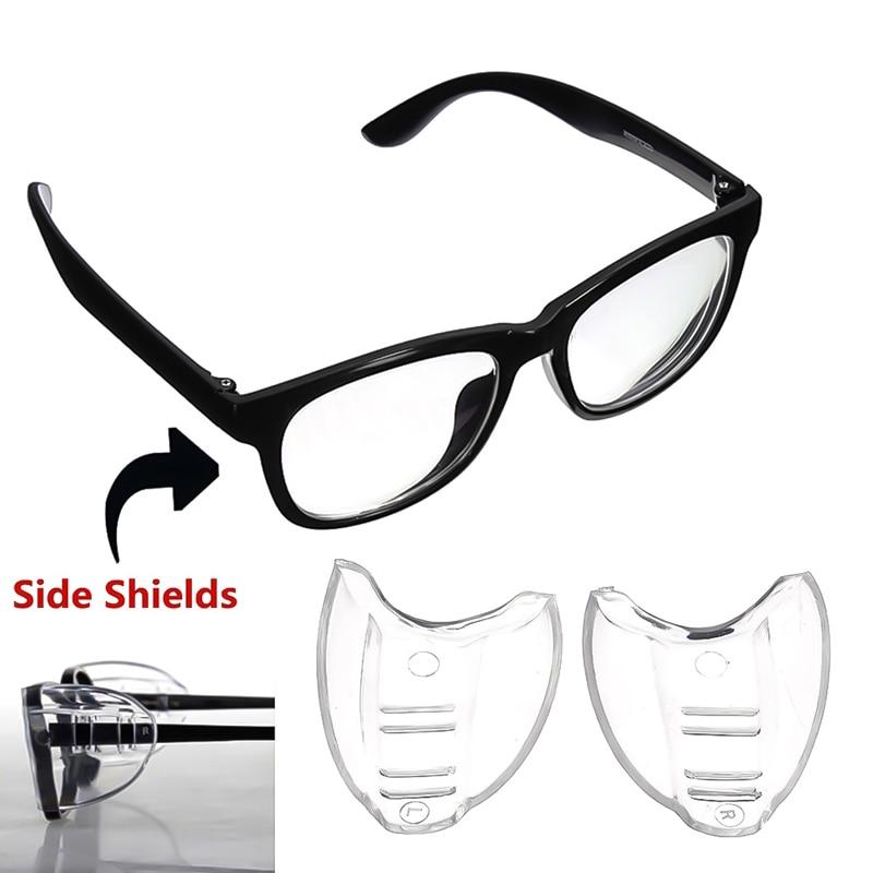 1 Pair Sicherheit Brille Protector Brillen Gläser Schutzhülle Flügel Seite Shields Sicherheit Klare Universal Flexible Seite Shields