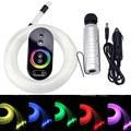 Coche uso DC12V 6W RGB plástico fibra óptica estrella techo Kit luz 100 uds/150 uds/200 Uds 0,75mm 2M + control remoto táctil