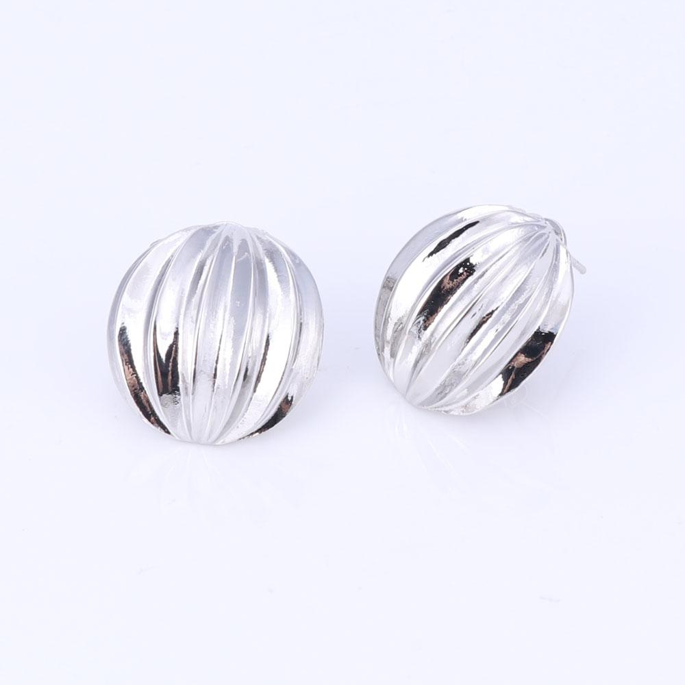 Dubai Jewelry Set Ball Pendant Necklace Earrings Bracelet Ring Silver Color Jewelry Set Women's Wedding Accessories 5