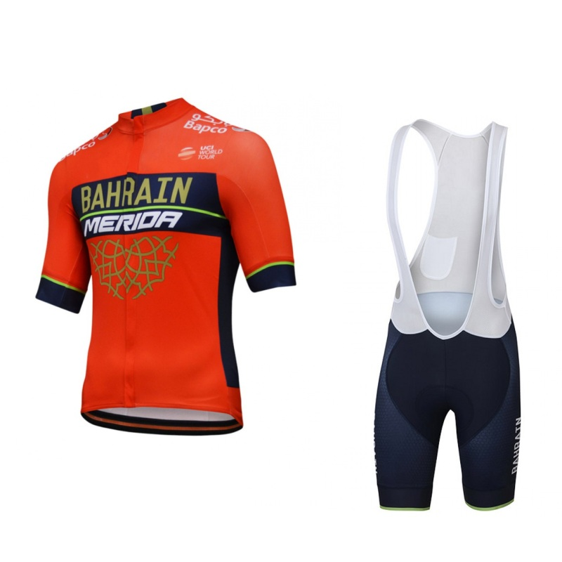 2018 pro tour team bahrain merida cycling jersey kits mens quick dry summer  bike cloth MTB Ropa Ciclismo Bicycle maillot gel pad 30a303193