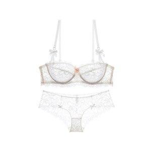 Image 2 - Varsbaby Damen Ultra dünne Spitze Sexy Unterwäsche Halbe Tasse Komfortable Atmungs Bh Sets