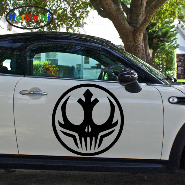 Hotmeini 2 X Animated Star Wars Dark Side Alliance Symbol Car