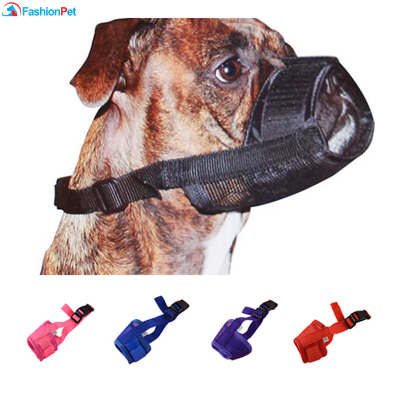 Vendita calda morbido materiale di nylon Pet Mouth Mask Pet Puppy Muso per cani piccoli e grandi