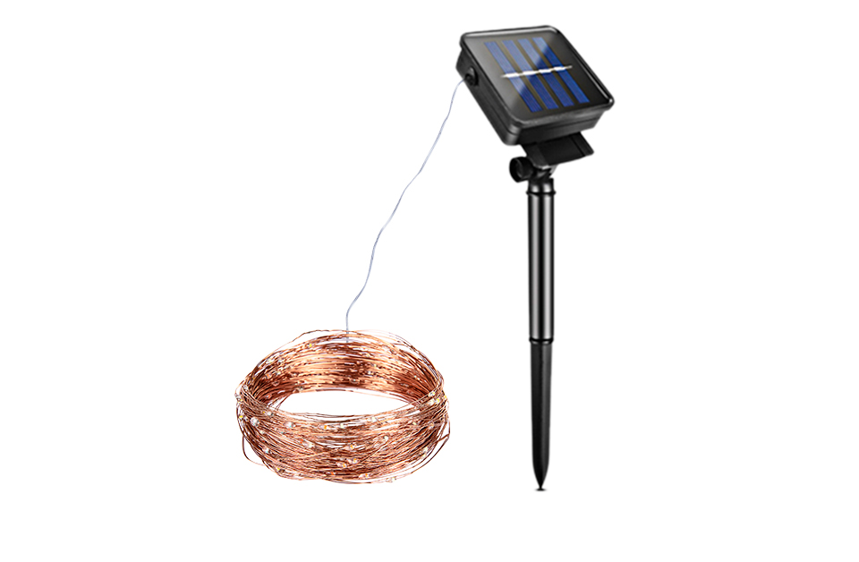 10M 20M Solar Power LED Garland Christmas Tree Fairy String Lights Chain Copper Wire Home Outdoor Christmas Holiday Decoration (2)