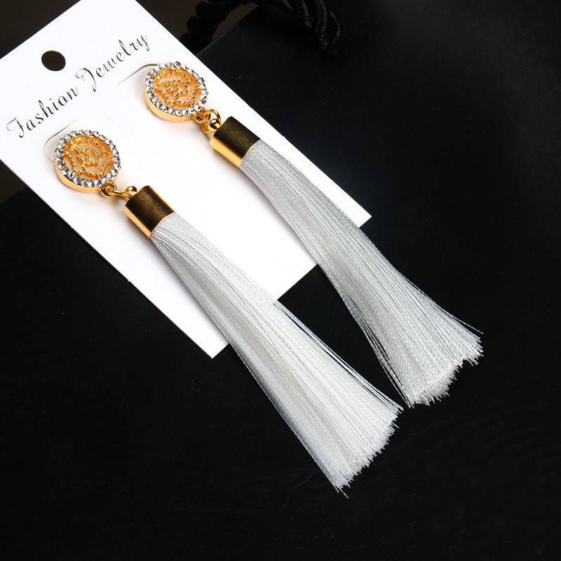 Exaggerated Rhinestone Long Tassel Earrings 2017 New Arrival Fashion Brincos Bijoux Crystal Dangle Earrings Women's Jewelry 20