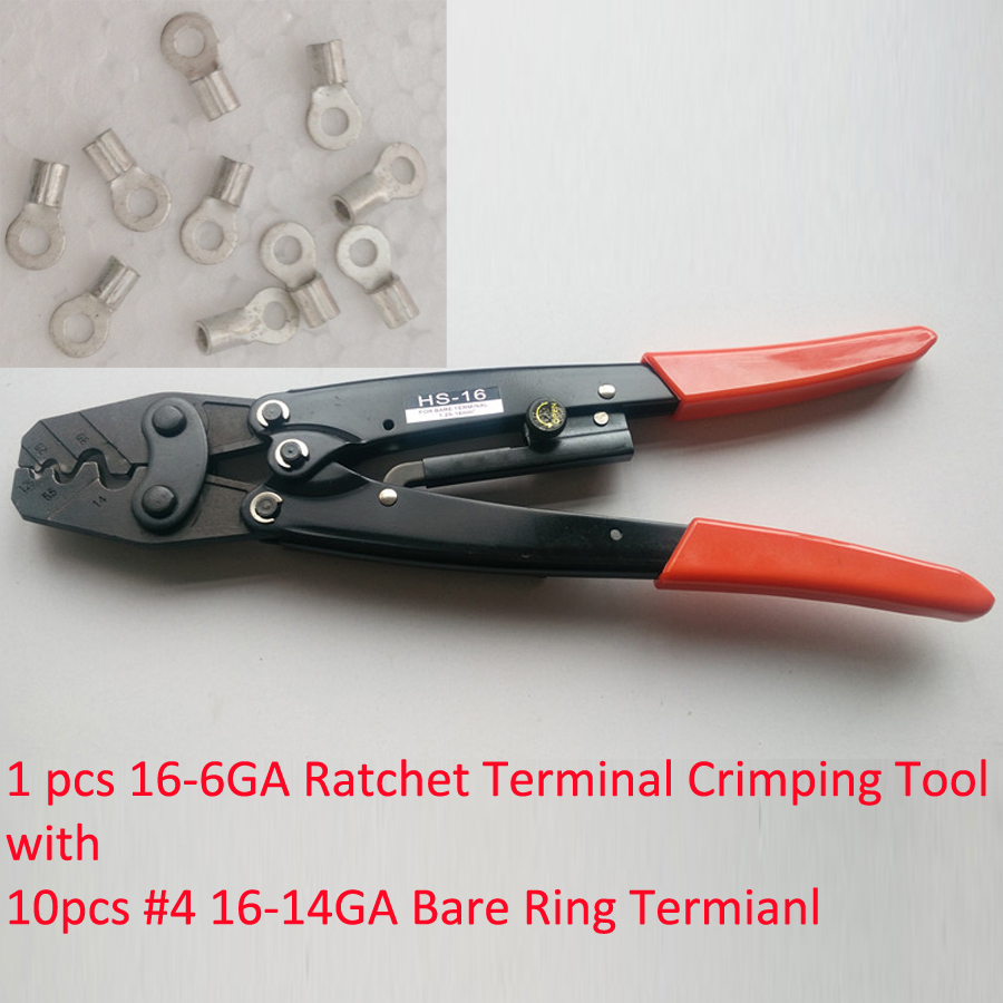 ღ ღCrimping tool AWG16-6 HS-16 with 10pcs Non-insulated Wire Ring ...