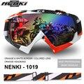 NENKI luvas Motocross Off-Road ATV MX Dirt Bike Downhill DH Óculos Homens Mulheres Óculos De Snowboard Ski Motocicleta Googles. colorido Lente
